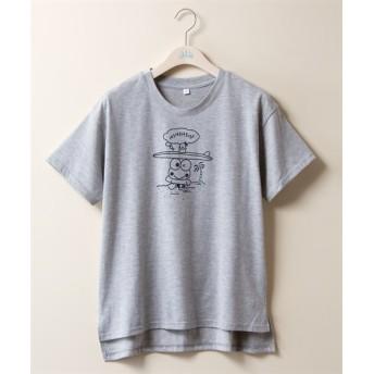 けろけろけろっぴ ゆるTシャツ (大きいサイズレディース)Tシャツ・カットソー