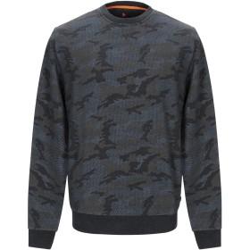 《セール開催中》MANUEL RITZ メンズ スウェットシャツ ブルーグレー S コットン 92% / ポリウレタン 8%