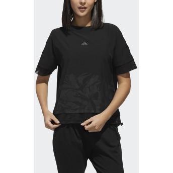 W M4T ファブリックミックスTシャツ adidas (アディダス) FTF48 DV2205.