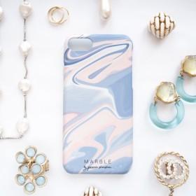 マーブル iphone/スマホケース ハードケース