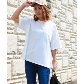 ソーシャルガール smileバック刺繍ビッグTシャツ レディース オフホワイト M 【SocialGIRL】
