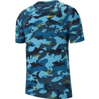 ナイキ DRI-FIT LEG カモ Tシャツ NIKE (ナイキ) 923524-433 BLU