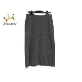 バレンチノ VALENTINO ロングスカート サイズ44 L レディース ダークグレー LES TRICOTS/ニット   スペシャル特価 20190915