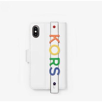 MICHAEL MICHAEL KORS レディース フォリオ ハンドストラップ - iPhone X-XS オプティックホワイト マイケル・コース