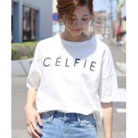 レカ ロゴTシャツ CELFIE レディース ホワイト 【半袖】FREE 【reca】