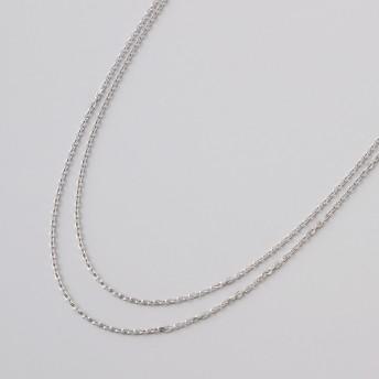 純プラチナ2連ネックレス
