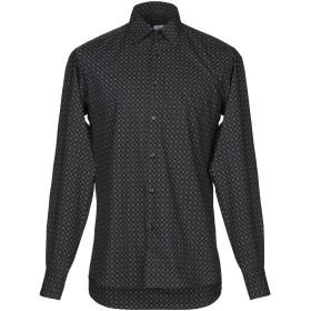 《期間限定セール開催中!》A.DI CAPUA メンズ シャツ ブラック 39 コットン 100%