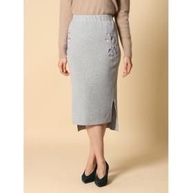 【60%OFF】 クリアインプレッション 《musee》バックロング刺繍タイトスカート レディース グレー1 02 【CLEAR IMPRESSION】 【セール開催中】
