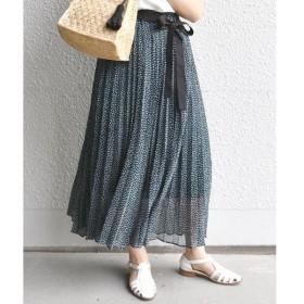 SHIPS for women / シップスウィメン ドットプリーツスカート