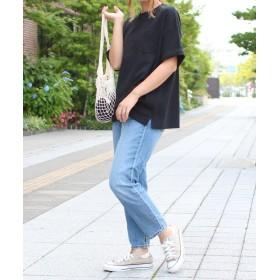 ソーシャルガール smileバック刺繍ビッグTシャツ レディース ブラック S 【SocialGIRL】