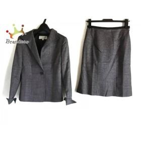 ヴァンドゥ オクトーブル スカートスーツ サイズ36 S レディース 美品 ダークグレー×黒 ラメ   スペシャル特価 20190908