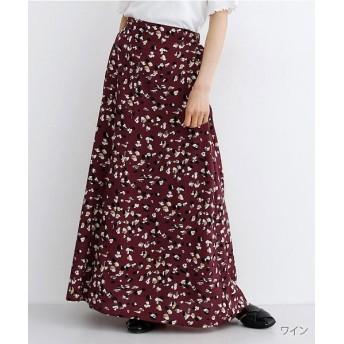 メルロー くるみボタンAラインスカート レディース ワイン FREE 【merlot】
