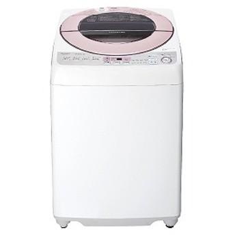 シャープ SHARP 全自動洗濯機 [洗濯7.0kg/インバーターモーター搭載/ふろ水ポンプ対応(別売] ES-GV7D-P ピンク系