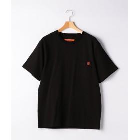 グリーンレーベルリラクシング [ユニバーサルオーバーオール] SC UNIVERSAL OVERALL ロゴ ポケット Tシャツ メンズ BLACK S 【green label relaxing】