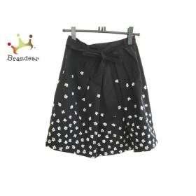 インゲボルグ INGEBORG スカート サイズ9 M レディース 美品 黒×白 花柄/リボン   スペシャル特価 20190914