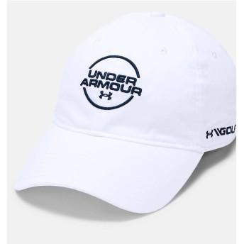 19F UA JS WASHED COTTON CAP UNDER ARMOUR (アンダーアーマー) 1328671 100 WHT