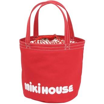 MIKI HOUSE ミキハウス バケツ型ロゴトートバッグ 赤 キッズ