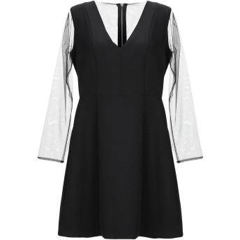 《セール開催中》DIANE KRGER レディース ミニワンピース&ドレス ブラック 44 ポリエステル 92% / ポリウレタン 8%