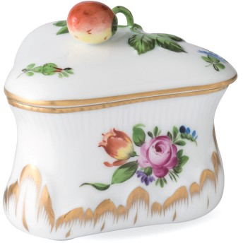 Herend ヘレンド チューリップの花束ボンボン入れイチゴ