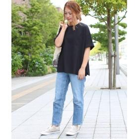 ソーシャルガールsmileバック刺繍ビッグTシャツレディースブラックM【SocialGIRL】