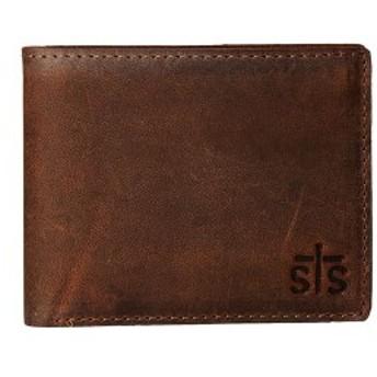 エスティエスランチウェア メンズ 財布 アクセサリー The Foreman Bi-Fold Wallet Brown Leather
