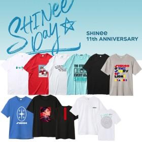 [2(個)ごとに100円割引] 国内発送/品質保証★SHINee11周年 SHINee Debut 11th Anniversary Tシャツ /shinee公式グッズペアルック トップス 男女兼用