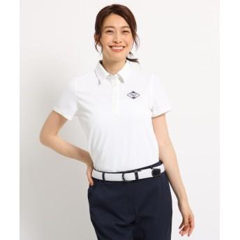 【30%OFF】 アダバット 半袖ポロシャツ レディース レディース ホワイト(001) 40(L) 【adabat】 【セール開催中】