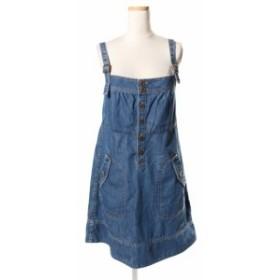 【中古】バーバリーブルーレーベル BURBERRY BLUE LABEL デニム ジャンパー スカート /kf0527 レディース