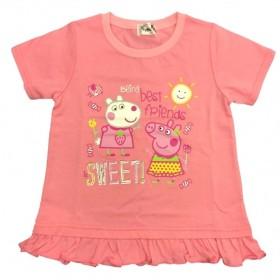 ベビーザらス限定 ペッパピッグ 半袖Tシャツ(ピンク×110cm)【クリアランス】
