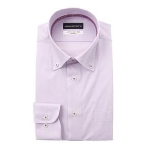 【洋服の青山:トップス】【長袖】【ボタンダウン】スタイリッシュワイシャツ