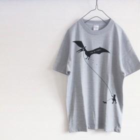 二刀流少女 Tシャツ(グレー)