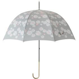 マークスオリジナル 晴雨兼用 長傘 フラワー○ZRFWUUM17GY グレー 雨具・日除けグッズ