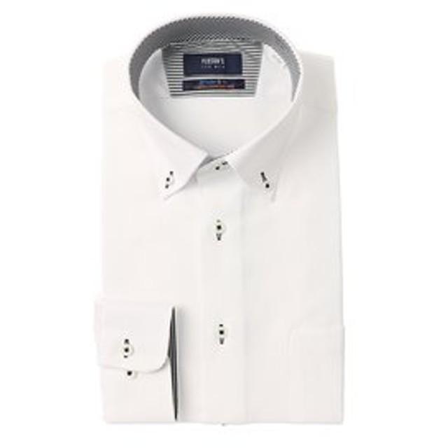 【洋服の青山:トップス】【長袖】【ライクラT400】【ストレッチ】【ボタンダウン】スタイリッシュワイシャツ