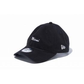 【ニューエラ公式】 9THIRTY クロスストラップ ミニロゴ Miami ブラック メンズ レディース 56.8 - 60.6cm キャップ 帽子 12082886 NEW ERA