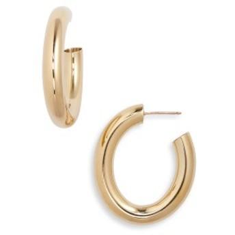 ローラロンバルディ レディース ピアス&イヤリング アクセサリー Laura Lombardi Mini Curve Earrings Brass