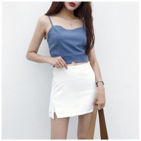 【送料無料】レディーススカート ミニスカート フレアスカート Aライン 無地 韓国ファッション