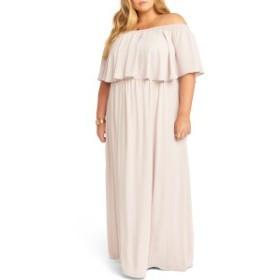 ウミーユアムーム レディース ワンピース トップス Show Me Your Mumu Hacienda Off the Shoulder Ruffle Evening Dress (Plus Size) Sho
