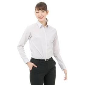【洋服の青山:トップス】【長袖】【ストレッチ】【スキッパーカラー】ブラウス