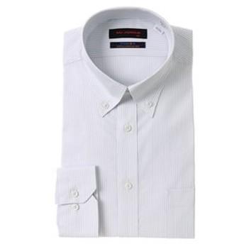 【洋服の青山:トップス】【長袖】【ストレッチ】【ボタンダウン】スタイリッシュワイシャツ