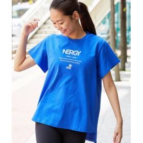 【20%OFF】 ナージー コラボTシャツ レディース ブルー(44) F 【NERGY】 【セール開催中】