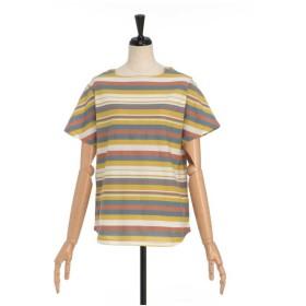SIMPLE LIFE パネルボーダーカットソー Tシャツ・カットソー,ストーングレー
