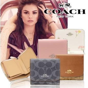 最安挑戦★特価中 COACH/コーチ コンパクト財布特集 財布 ミニ財布 2つ折り財布 かわいい 人気 シグネチャー f53436 f53837 f52779 f53768