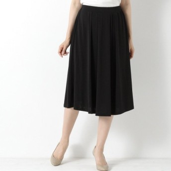 スカート レディース ロング 通勤にも◎きれい見えタックフレアスカート 「ブラック」