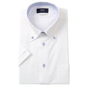 【洋服の青山:トップス】【半袖】【COOLMAX】【ボタンダウン】スタイリッシュワイシャツ