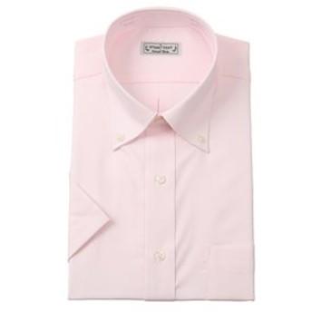 【洋服の青山:トップス】【半袖】【ボタンダウン】スタンダードワイシャツ