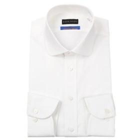【洋服の青山:トップス】【長袖】【プレミアム】【OEKO-TEX(R)】【ワイドカラー】スタイリッシュワイシャツ