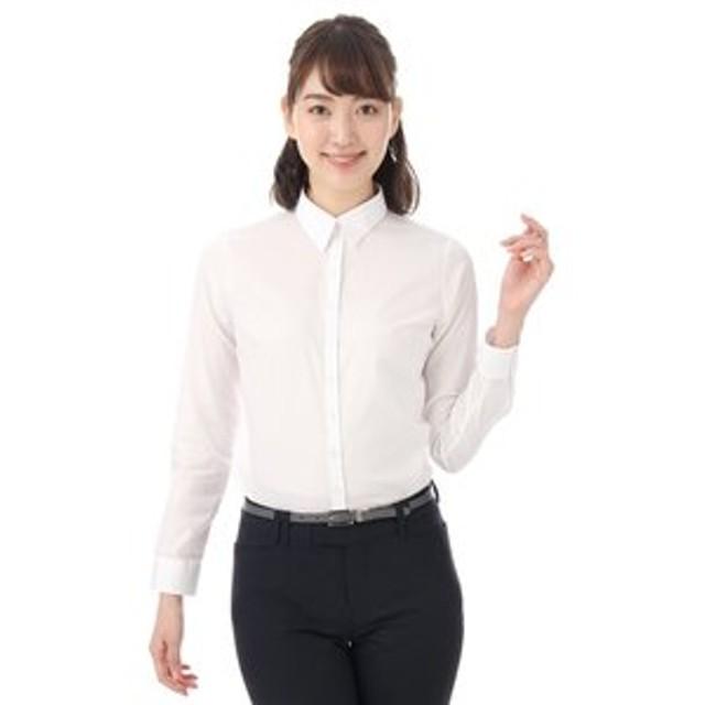 【洋服の青山:トップス】【長袖】【ストレッチ】【レギュラーカラー】ブラウス