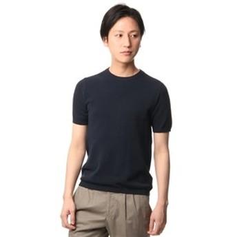 【洋服の青山:トップス】鹿の子クルーニットTシャツ