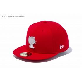 【ニューエラ公式】 59FIFTY HELLO KITTY ハローキティ メタルプレート スカーレット メンズ レディース 7 (55.8cm) キャップ 帽子 12082897 コラボ NEW ERA