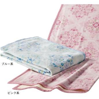 西川 ◆泉大津産 ふっくら洗える綿毛布 ブルー系 140×200cm